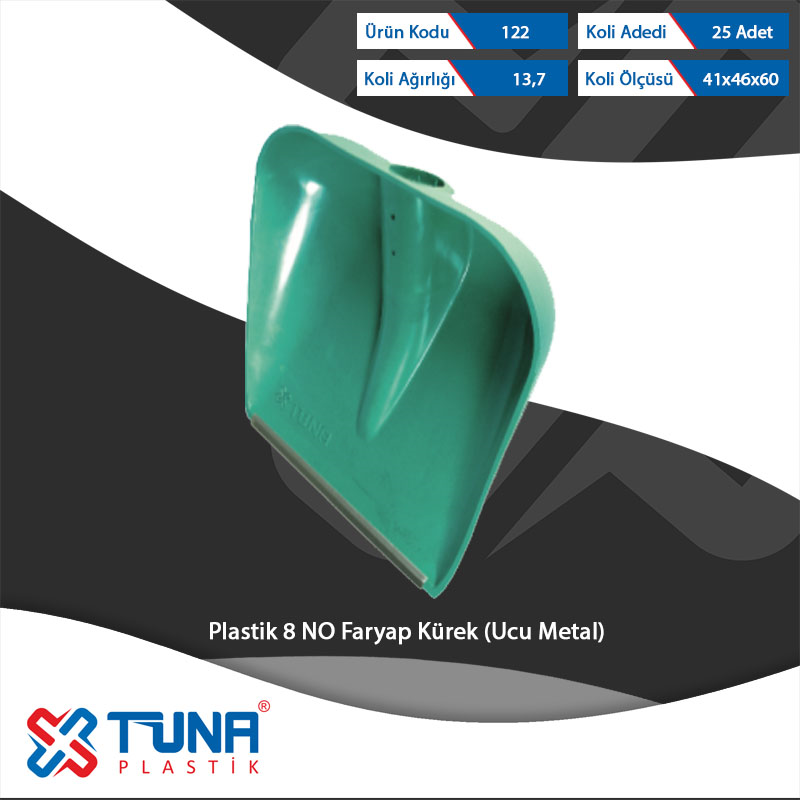 Plastic No 8 Faryap Shovel ( Metal Tipped )